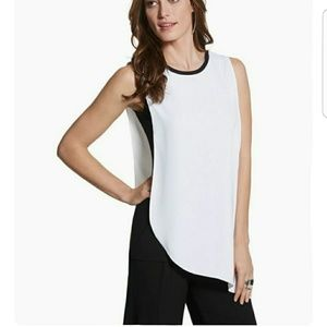 Black Label Chico's Drape Layer Tank Top