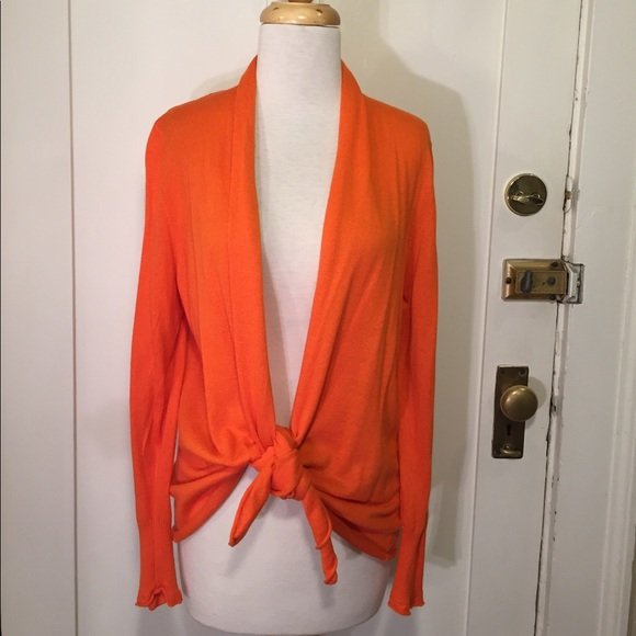 jcpenney - JCPenney wool blend orange open front cardigan from ...