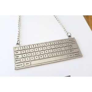 Keyboard Statement Necklace, used for sale