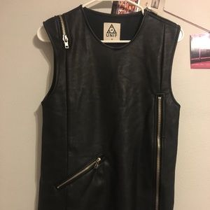 Unif motto leather dress