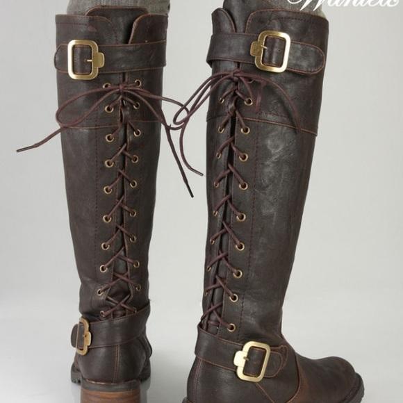 Ballardlace Up Corset Brown Boot