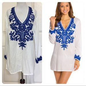 La Blanca Bali Gardens V-Neck Cover-Up Tunic.