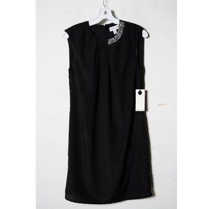 3.1 Philip Lim black beaded neck sleeveless dress