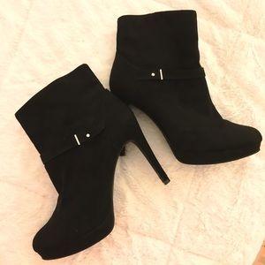 H&M Stiletto Heel Booties in Black