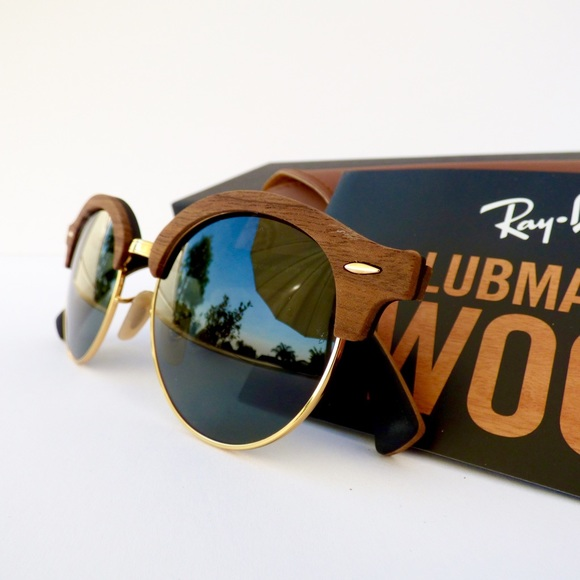 c91898621ef 100% Authentic Ray-Ban ClubMaster Wood Sunglasses