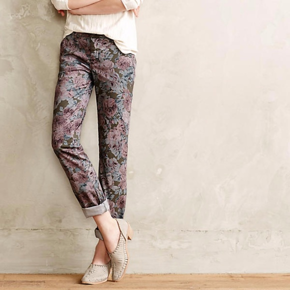3035255db20 Anthropologie Denim - Pilcro Anthropologie Hyphen Floral Chinos 29 Roses