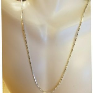 Jewelry - Sterling silver Box Chain Necklaces...various