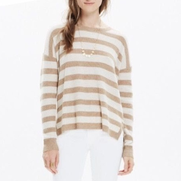 Madewell Striped Knit Small Pullover Mock Sweater