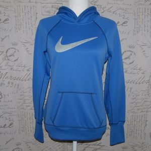 Nike Women's Blue Pullover Hoodie Sweater Small