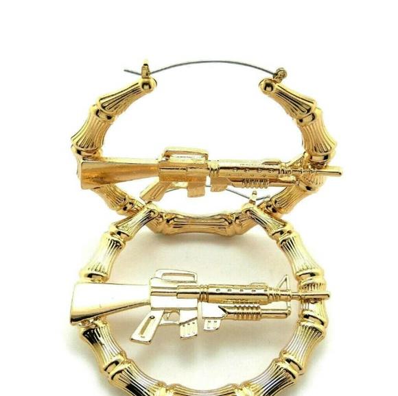 14K GOLD PLATED AK47 BAMBOO EARRINGS  sc 1 st  Poshmark & 90% off Jewelry - 14K GOLD PLATED AK47 BAMBOO EARRINGS from Mo\u0027s ...