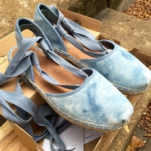 e9b80ce006c Toms Shoes - TOMS Skyway Blue Washed Suede Bella Espadrille