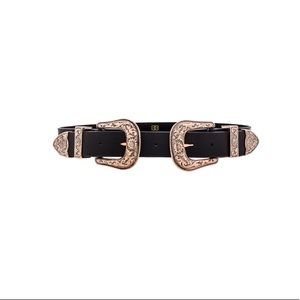 Accessories - BLACK AND GOLD DOUBLE VINTAGE BELT