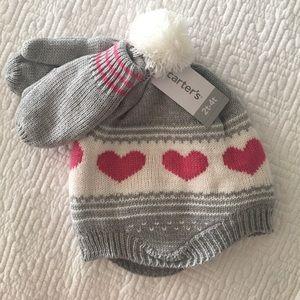 Carter's Toddler Girls Hat & Mitten set