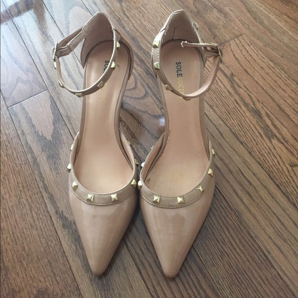 55ffd8a7799 Sole Society Anneke Studded pumps nude size 7, 37