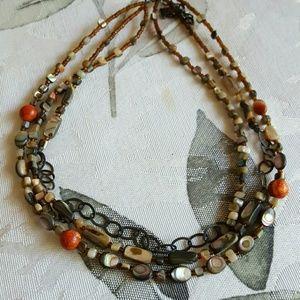 Jewelry - Abalone Sponge Coral Choker Necklace