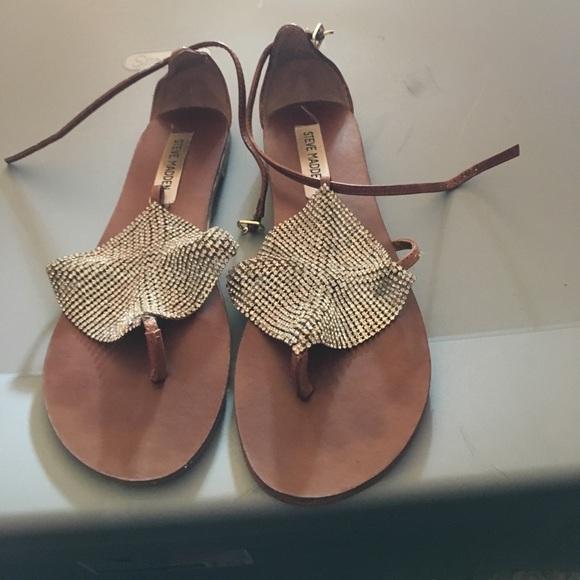 68d2cdee026 Steve madden shoes cognac mesh jeweled sandal poshmark jpg 580x580 Steve  sandala