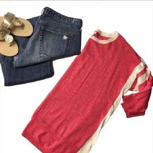 J CREW Petite lightweight tunic sweater in stripe
