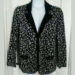 Lane Bryant Cheetah Cardigan Sweater XL
