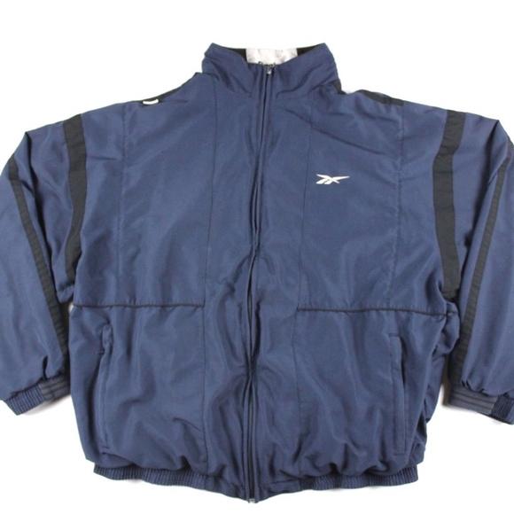 a233850e5d5b1 Vintage 90s Reebok Spell Out Windbreaker Jacket