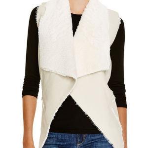 *NWT* BLANKNYC Ivory Faux Shearling Vest - Size XS
