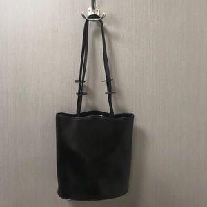 Furla Black Leather Bucket Hobo Bag with Dust Bag