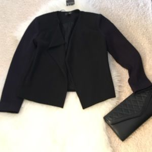 Topshop Blazer. Royal Purple sleeves. Size 6