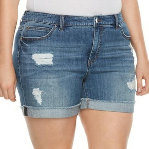 3842bfeb4a Jennifer Lopez Pants - Jennifer Lopez Rockin Cuffed Boyfriend Shorts