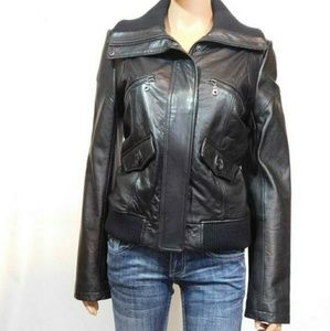 Lambskin Bomber Leather Jacket