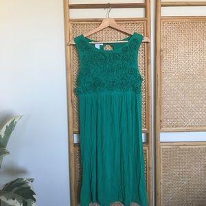 Green Flattering Formal Jersey Dress