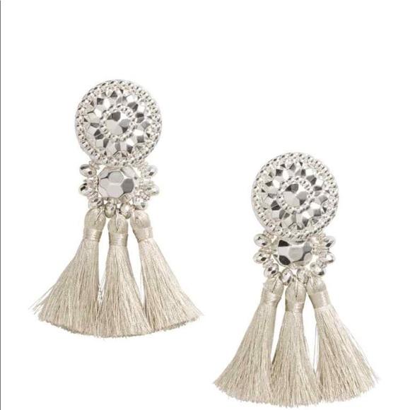 ae7a19c07cebb3 Jewelry | Hm Silver Tassel Earrings Brandnew | Poshmark