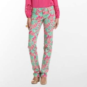 Lilly Pulitzer Spike the Punch Worth Jeans sz 2