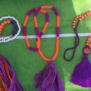 Gameday necklace orange purple