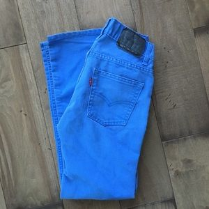 Levi's 511 Slim 14R Kids 27x27 Blue Cotton Jeans