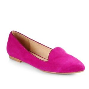 Joie Day Dreaming Suede Flat Loafers Berry RARE