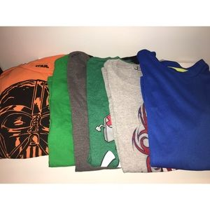 Other - Lot of 6 BOYS t-shirts Sz Large 10/12