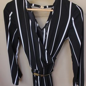 bdb3bb0beabd Worthington Pants - Long Sleeve Striped Jumpsuit