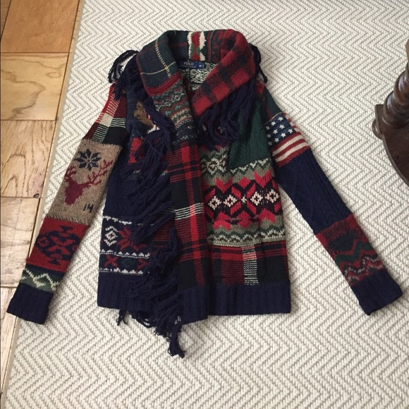Conquista Generale Tutti e due  Polo by Ralph Lauren Sweaters | Polo Ralph Lauren Indian Patchwork Cardigan  Xs | Poshmark
