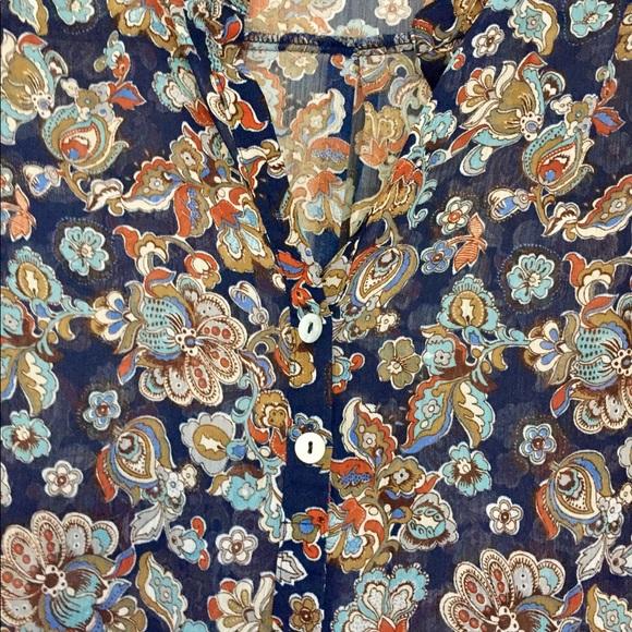 Tops - Sheer blouse great fall colors!