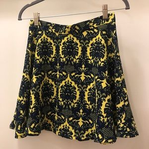 Mini Yellow & Navy Blue Skirt