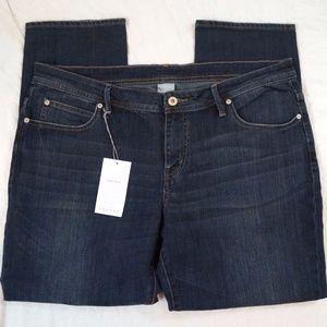 Poetry Fashion Boyfriend Fit Dark Wash Jeans