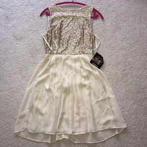 Arden B Gold special occasion dress