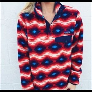 Red/blue tribal re tool snap Patagonia