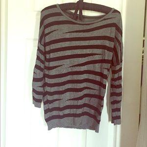 Express jagged striped sweater