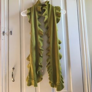 Accessories - Chartreuse Ruffled Scarf