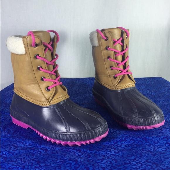 Gap Girls Kids Duck Boots Color Pretzel