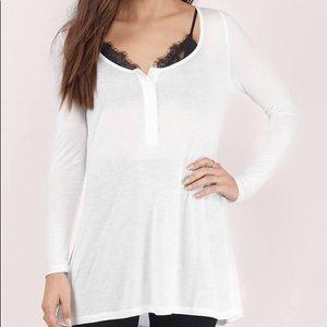 Sheer white long sleeve top (NEVER WORN)