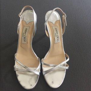 Jimmy Choo heeled leather sandals