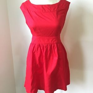 Red Tulle tie back dress