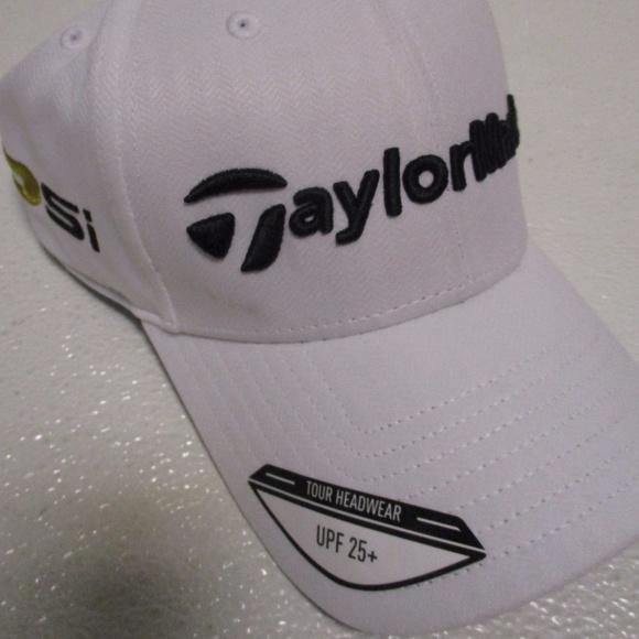 38e17d1c7e6 TaylorMade Tour Radar Cap Hat Golf White New 1 sz.  M 59cd4b1f36d594c009002141