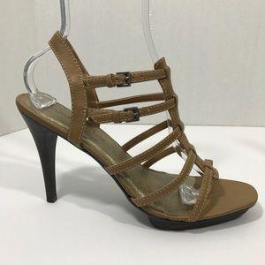 Matisse Tan High Heels Strappy Size 10m